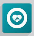 flat heart pulse icon vector image