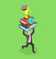 flat isometric concept online education vector image vector image