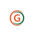 g company logo template design vector image vector image