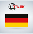 germany flag isolated on modern background with vector image vector image