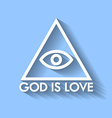 God is love vector image