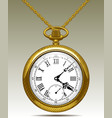 gold old clock on a chain vector image