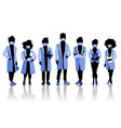 group doctors and medical staff people in vector image