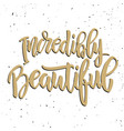 incredibly beautiful hand drawn lettering phrase vector image