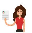 interview a businesswomen vector image vector image