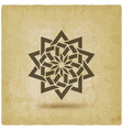 islamic geometric circular pattern on vintage vector image vector image