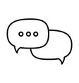 isolated ellipsis speech bubble vector image vector image