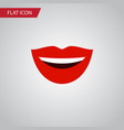 isolated laugh flat icon smile element can vector image vector image