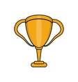 Isolated trophy cup design vector image vector image