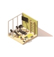 isometric low poly gym oom icon vector image vector image