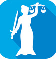 Justice Statue Icon vector image vector image