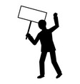 man protest hand banner icon simple style vector image