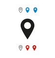 map location navigation icon vector image