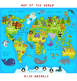 map world with animals vector image