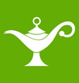 Middle east oil lamp icon green
