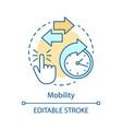mobility advantage concept icon vector image vector image