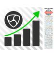 nem growing chart flat icon with bonus vector image vector image