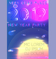 new year 2019 party cover futuristic vector image