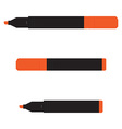 Orange marker set vector image vector image