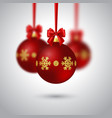 realistic christmas bauble vector image