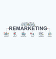 remarketing banner web icon for business vector image