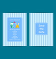 save date wedding invitation with cute vector image