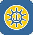 Sea sticker icon