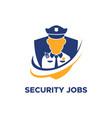security guard jobs logo vector image