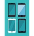 set differents smartphone digital technology vector image vector image