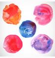 set watercolor blobs circle design elements vector image vector image
