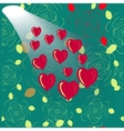 Shining heart heart background Valentine vector image
