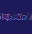 smart city in a futuristic style a city of the vector image vector image