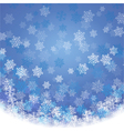 SnowflakesWithBlueBg vector image
