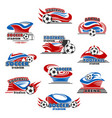 soccer stadium or football sport arena icon design vector image