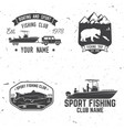 sport fishing club vector image vector image
