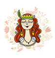 spring girl sketch for your design vector image