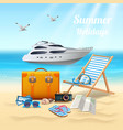 summer holidays realistic beautiful composition vector image