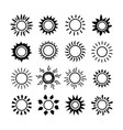 sun symbol icon set summer spring sunshine rays vector image vector image