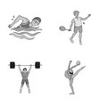 swimming badminton weightlifting artistic vector image vector image