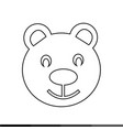 teddy bear icon design vector image