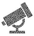 telescope mosaic of dots vector image