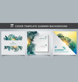 template brochure cover summer tropical vector image vector image