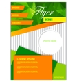 Template for brochure or flyer vector image vector image