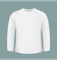 template white shirt with long sleeves design for vector image
