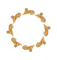 tigers in circle vector image vector image