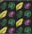 tropical seamless pattern in exotic palm vector image vector image