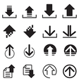 Upload DownLoad icons set vector image vector image