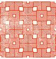 Vintage style geometric seamless background retro vector image vector image