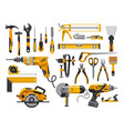work tools construction and repair instruments vector image