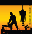 workers on a construction site vector image vector image